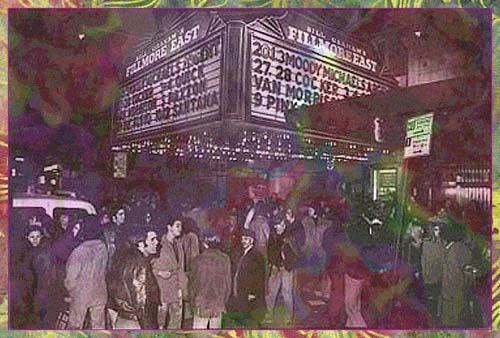 Fans outside the Fillmore East