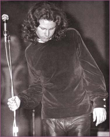 Jim Morrison onstage at the Fillmore East