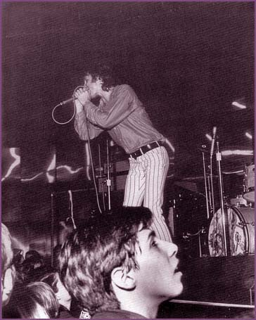 Jim Morrison on stage at the Whisky